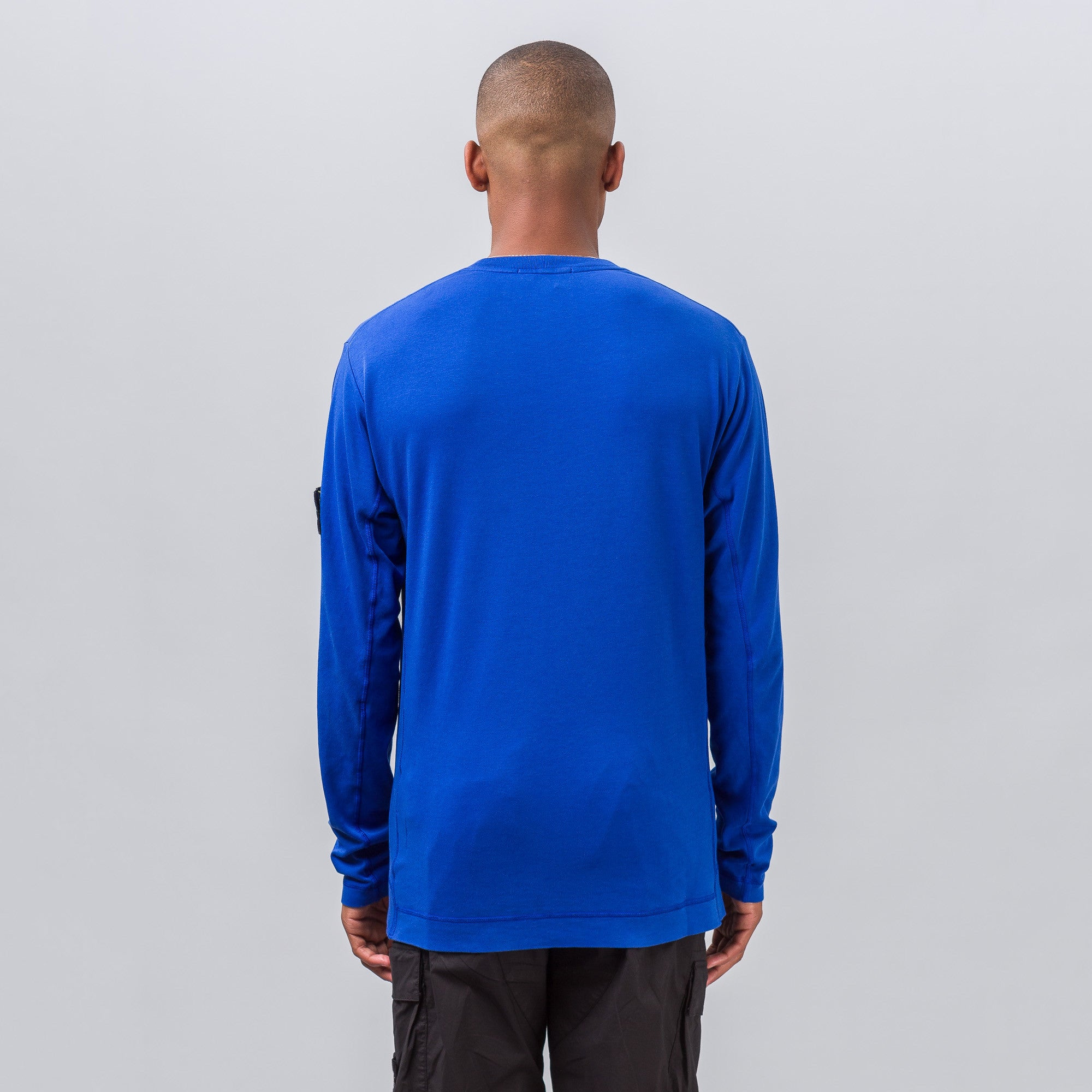 Patch Long-Sleeve Tee in Blue