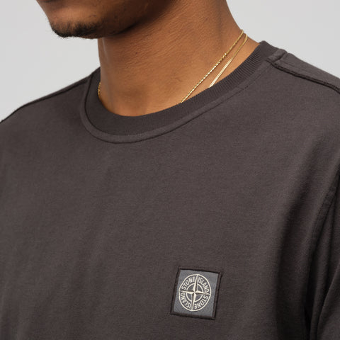 Stone Island 21442 Long Sleeve T-Shirt in Charcoal - Notre