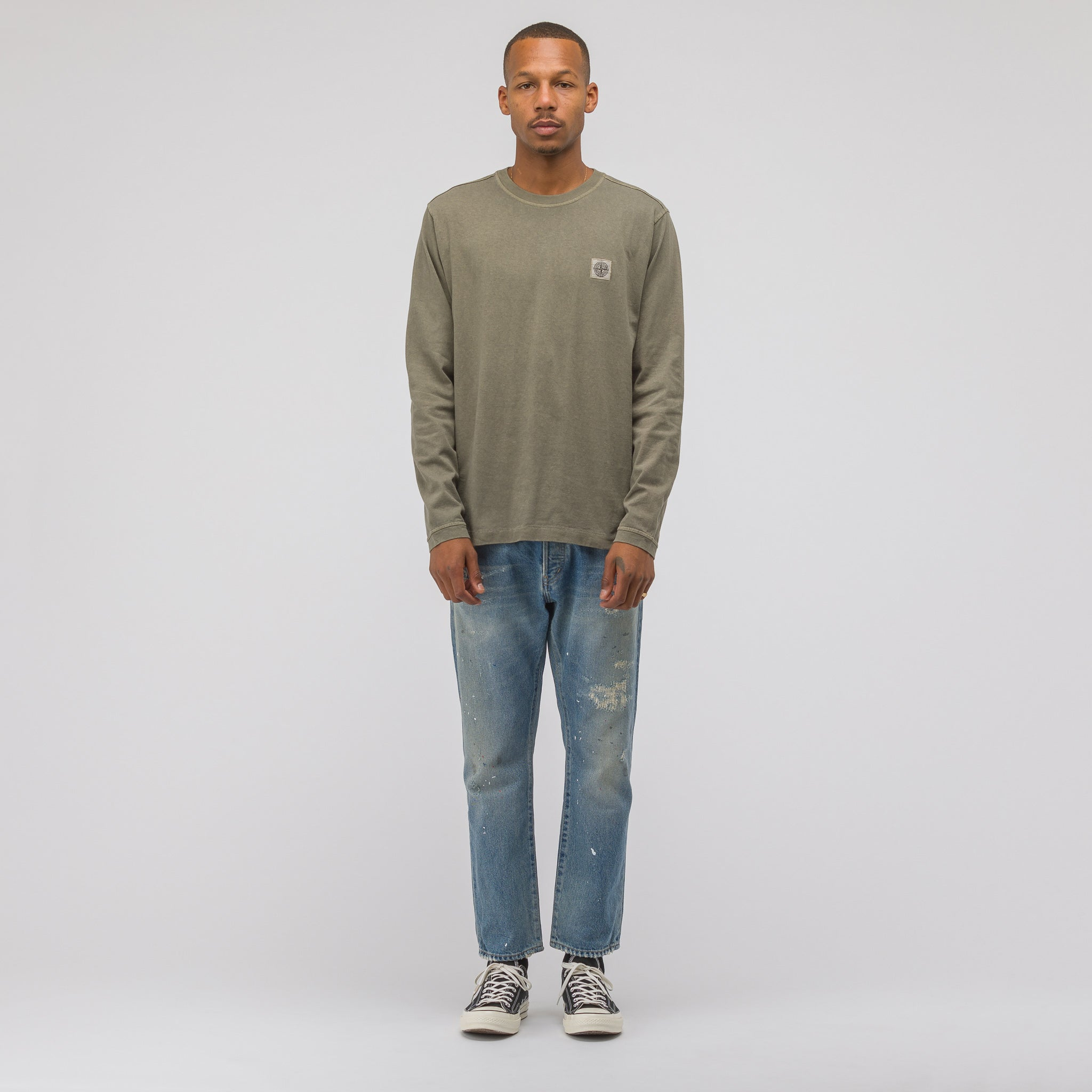 21442 Long Sleeve T-Shirt in Olive