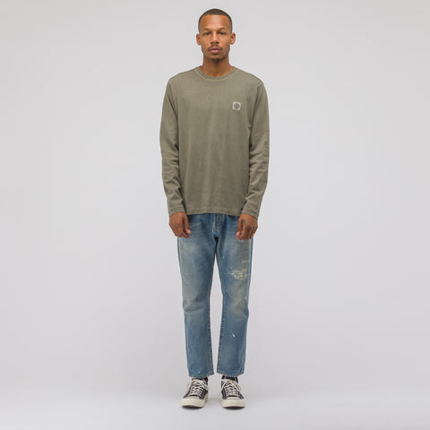 Stone Island 21442 Long Sleeve T-Shirt in Olive - Notre