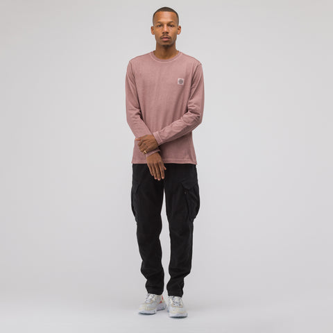 Stone Island 21442 Long Sleeve T-Shirt in Rose Quartz - Notre