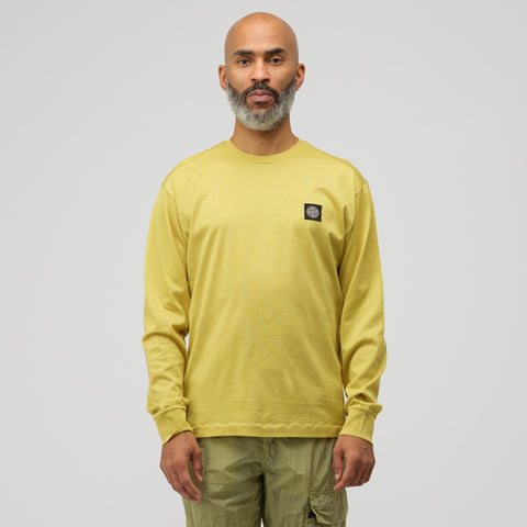 Stone Island 22713 Long Sleeve T-Shirt in Dark Yellow - Notre