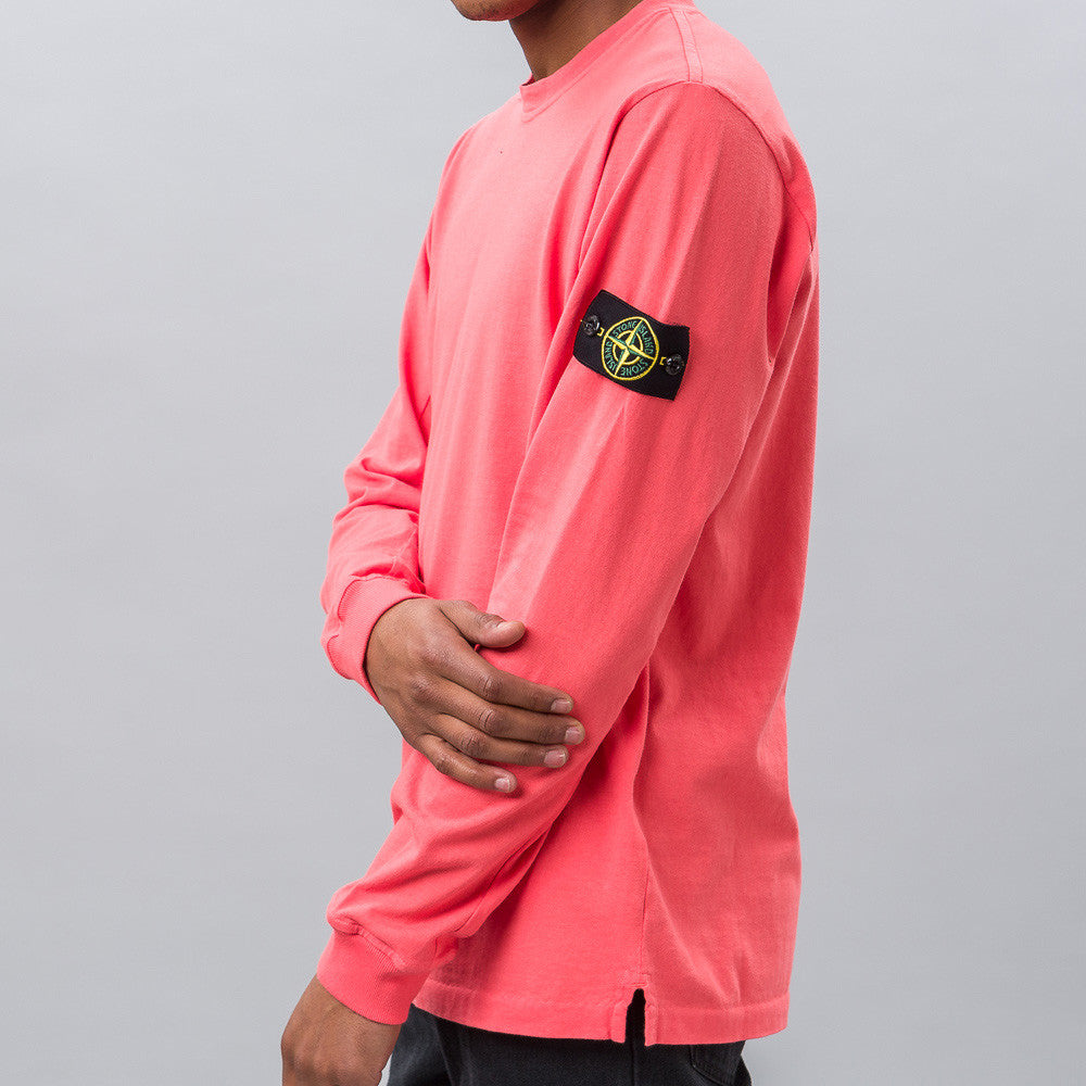 Stone Island Long-Sleeve T-Shirt in Lava Red Notre 1