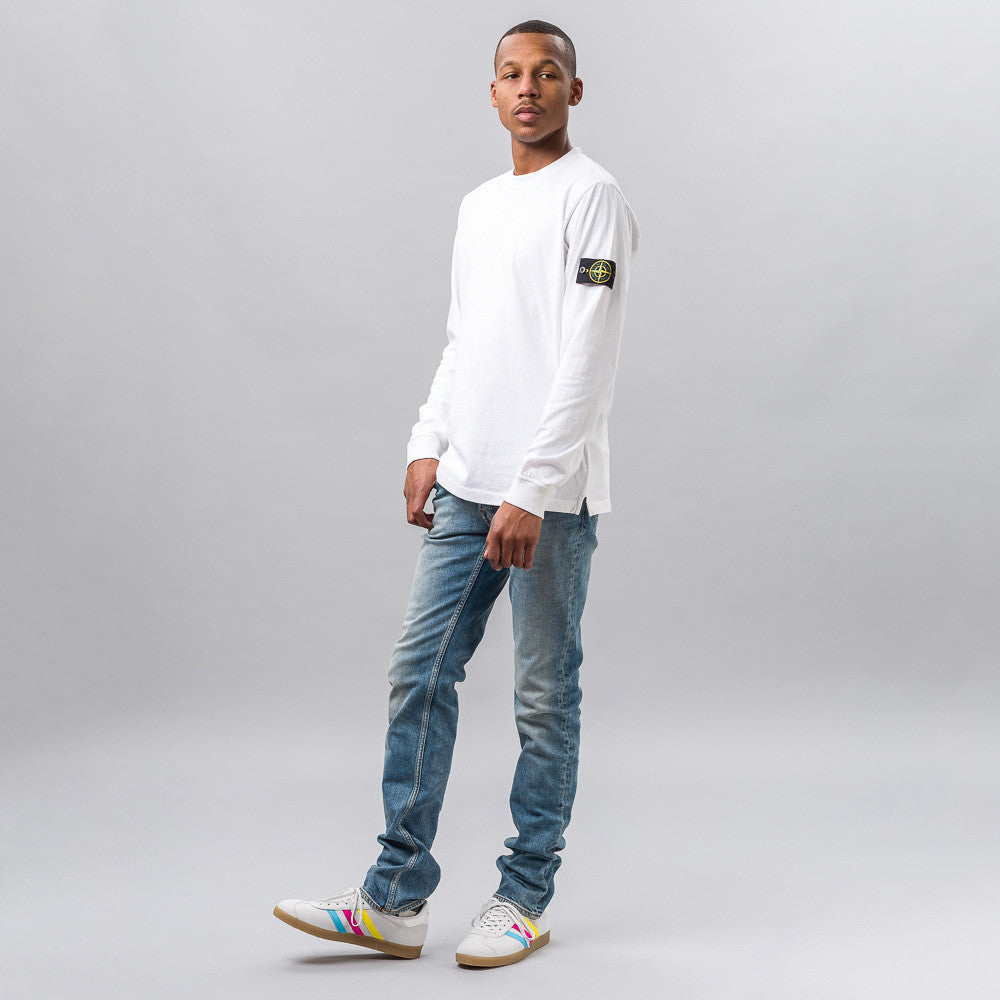 Stone Island Long-Sleeve T-Shirt in White Notre 1