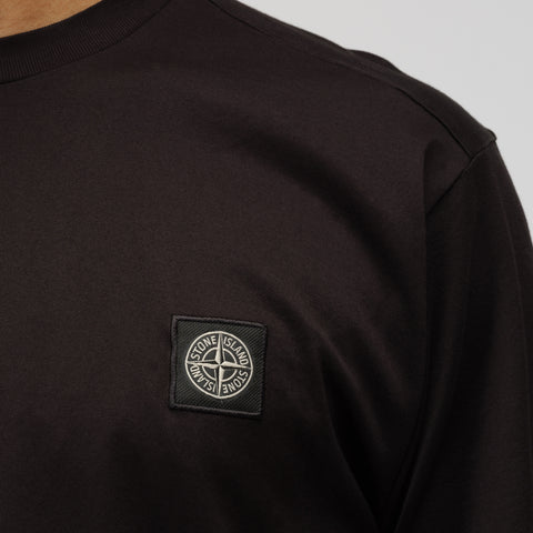 Stone Island 24113 Short Sleeve T-Shirt in Black - Notre