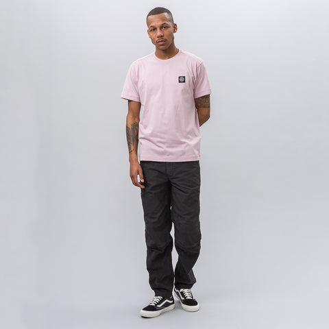 Stone Island 24141 Garment Dyed T-Shirt in Pink - Notre