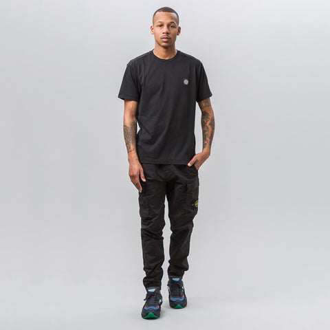 Stone Island 24141 Garment Dyed T-Shirt in Black - Notre