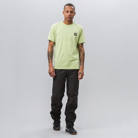 Stone Island Garment Dyed Short Sleeve Logo Tee in Green - Notre