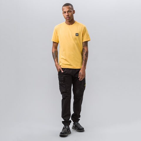 Stone Island 24141 Garment Dyed T-Shirt in Yellow - Notre