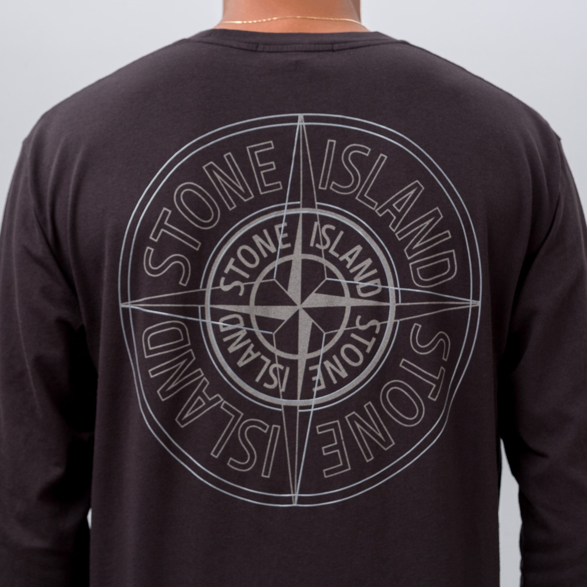 Reflective Compass Logo Tee in Black