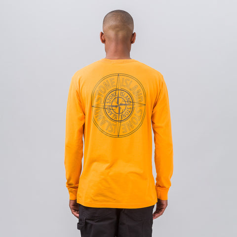 Stone Island Reflective Compass Logo Tee in Orange - Notre