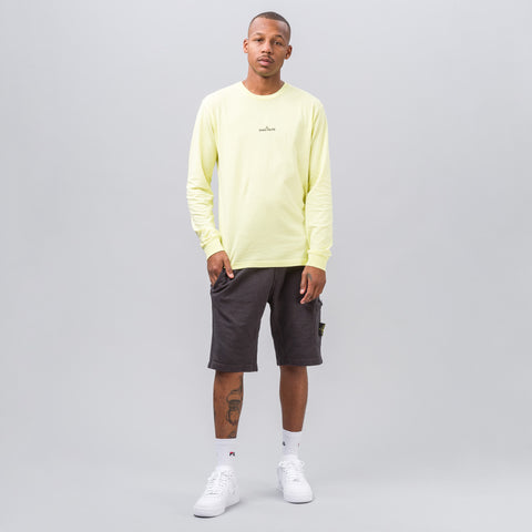 Stone Island Reflective Compass Logo Tee in Yellow - Notre