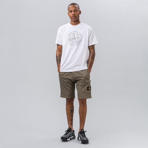 Stone Island 2NS87 Logo T-Shirt in White - Notre