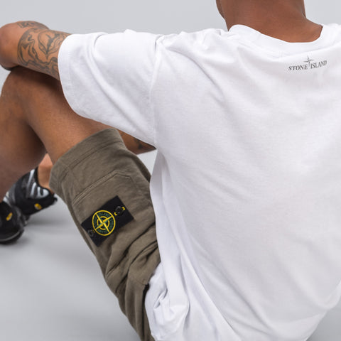 Stone Island Compass Logo T-Shirt in White - Notre