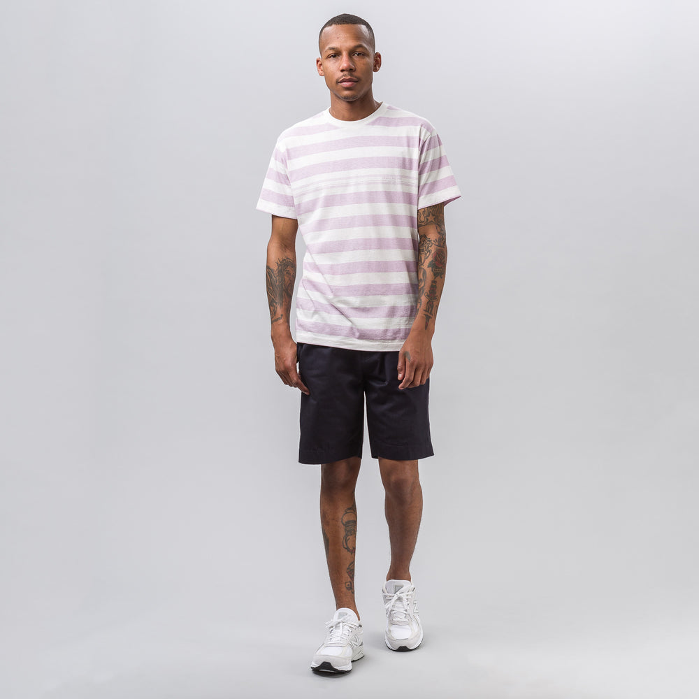 Stone Island 2NXSH T-Shirt in White/Pink - Notre