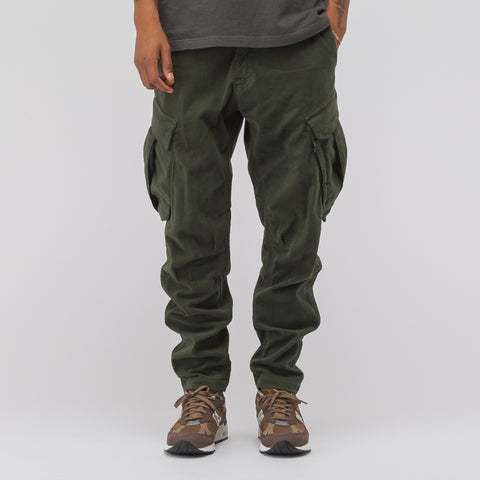 Stone Island Shadow Project 30311 Moleskin Cargo Pant in Olive - Notre