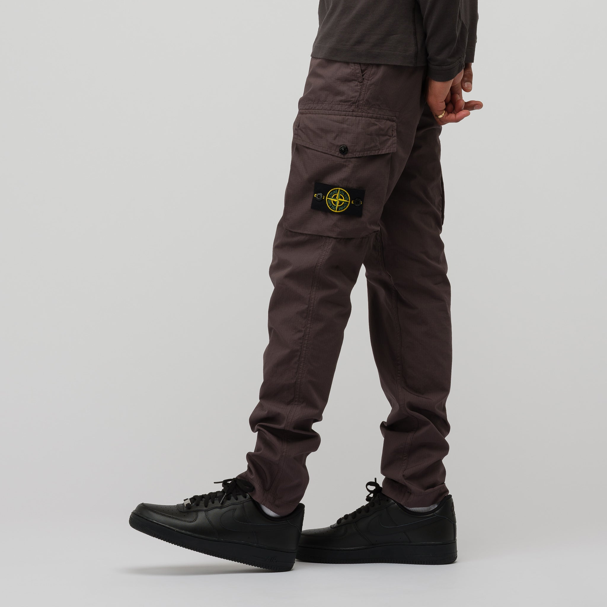 46107fd8d4e1 Stone Island 31807 Structured Cotton Trousers in Blue Grey