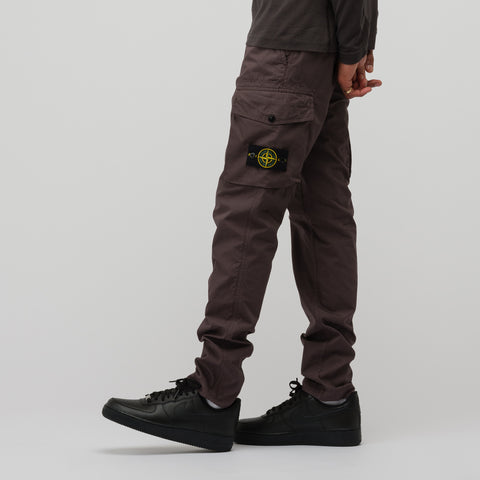 Stone Island 31807 Structured Cotton Trousers in Blue Grey - Notre