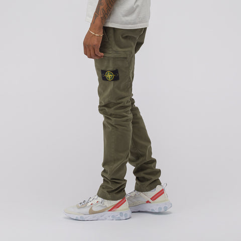 Stone Island 321LN Cargo Pant in Olive - Notre