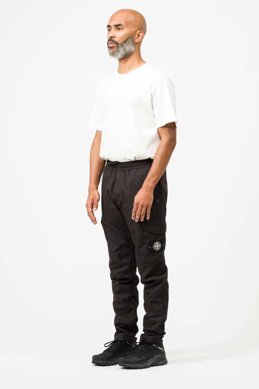 Stone Island 32398 Reflective Weave Ripstop Pant in Black - Notre