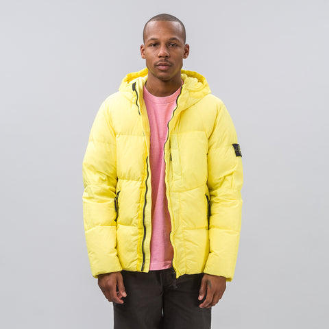 Stone Island 40223 Garment Dyed Crinkle Reps NY Down Jacket in Yellow - Notre
