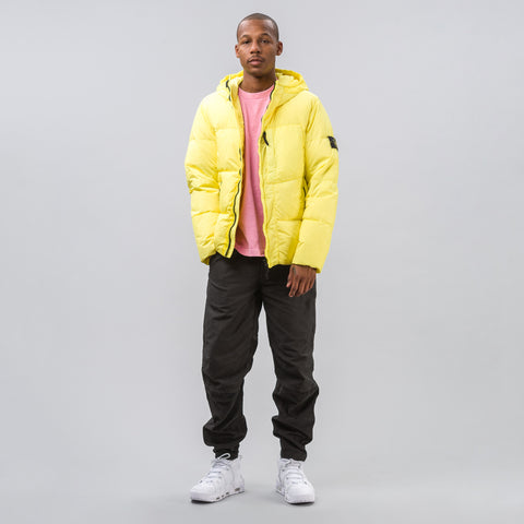 Stone Island Garment Dyed Crinkle Reps NY Down Jacket in Yellow - Notre