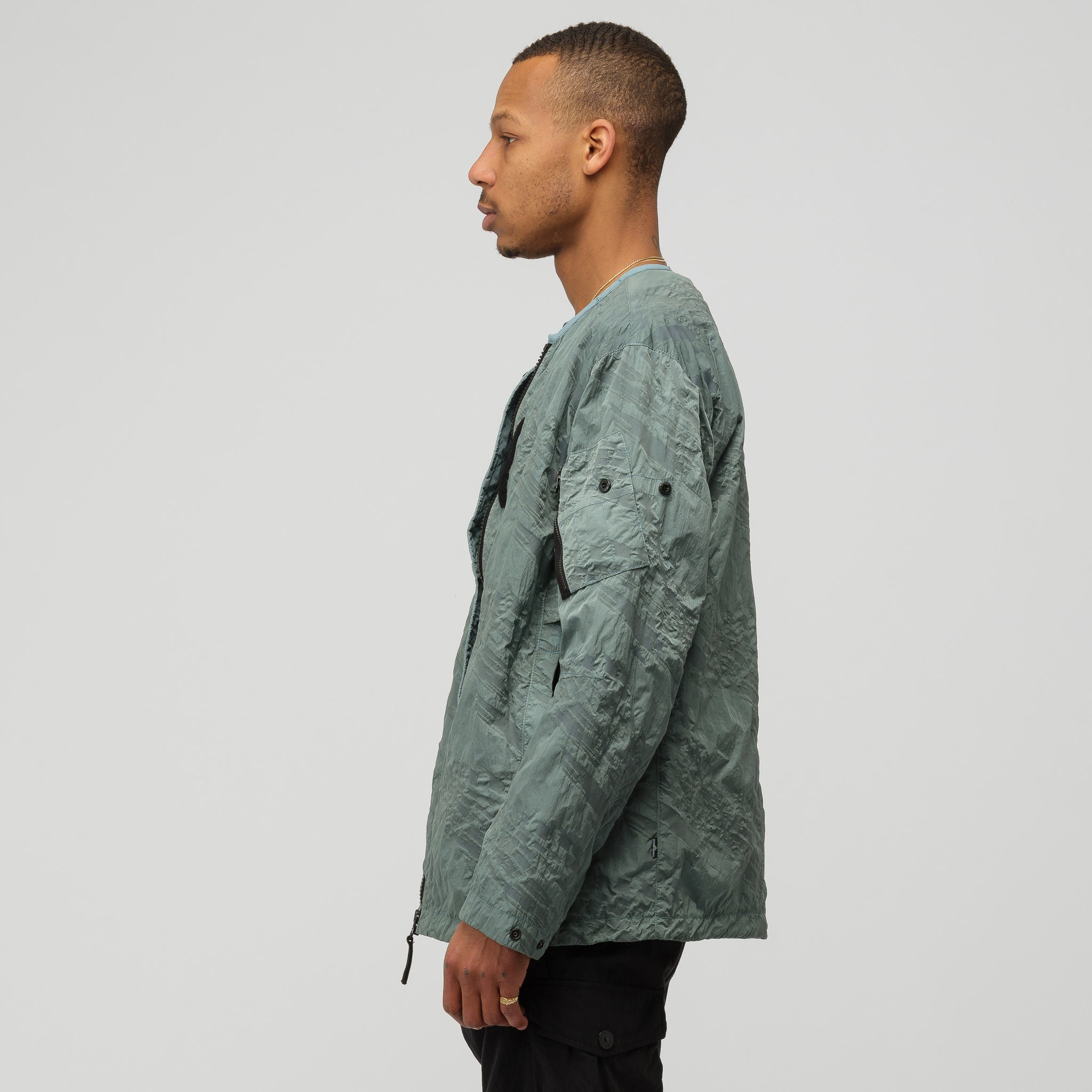 40505 Oversized Bomber in Pale Green