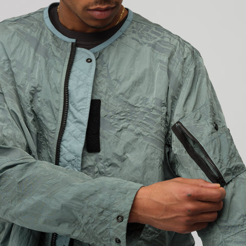 Stone Island Shadow Project 40505 Oversized Bomber in Pale Green - Notre