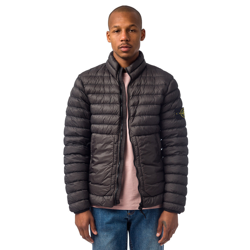 Stone Island 40724 Garment Dyed Packable Down Jacket in Charcoal Model Shot