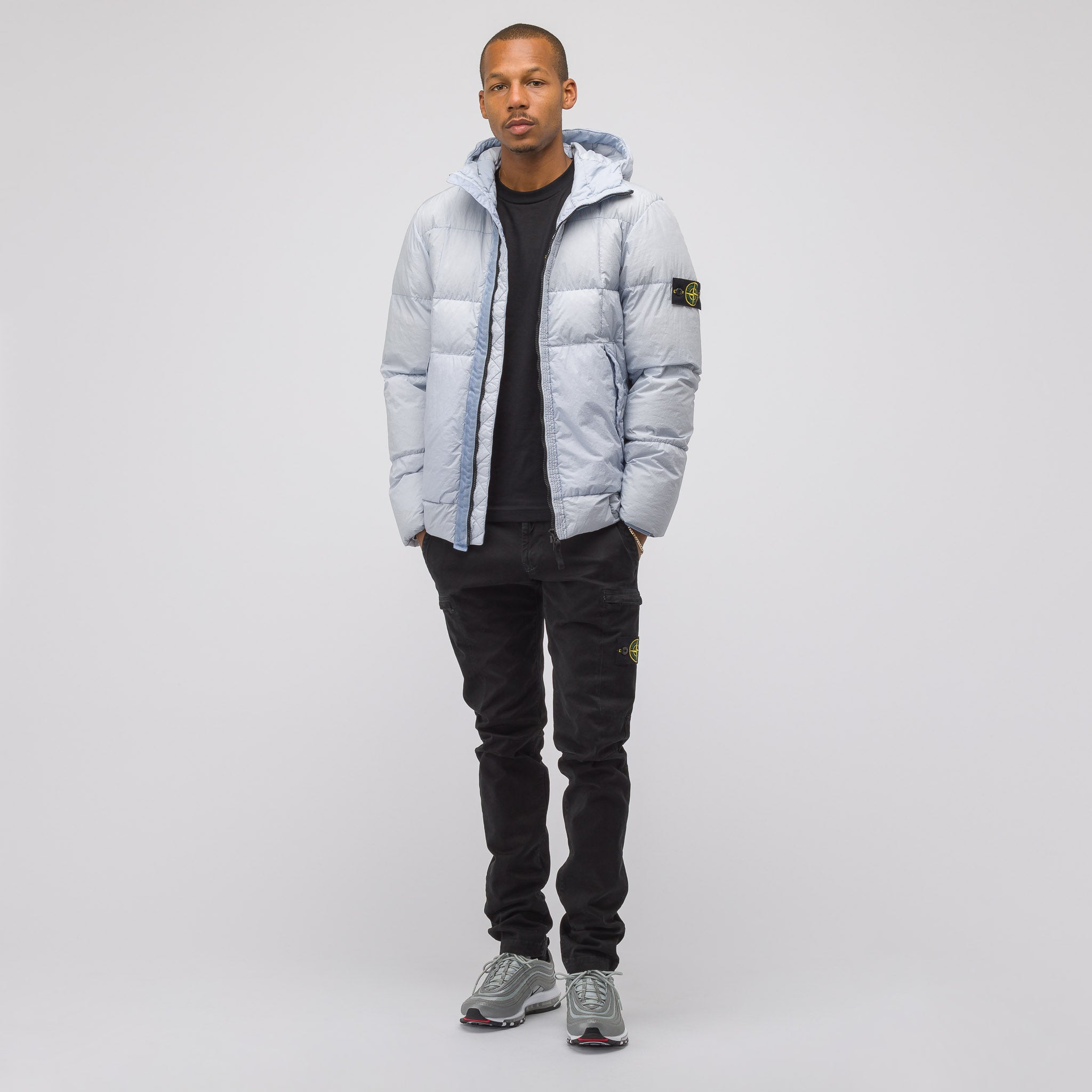 41223 Garment Dyed Crinkle Reps NY Down Jacket in Ice