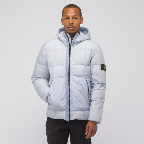 Stone Island 41223 Garment Dyed Crinkle Reps NY Down Jacket in Ice - Notre