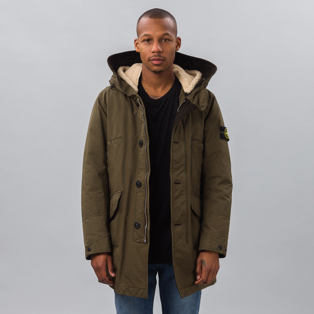 Stone Island - 44549 David-TC Jacket in Olive - Notre - 1