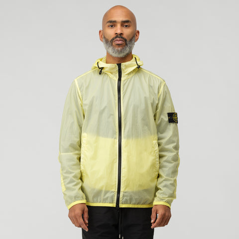 Stone Island 44731 Lamy Velour Full Zip Jacket in Lemon - Notre