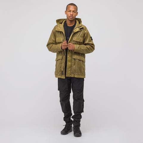Stone Island 44735 Lamy Flock Jacket in Olive - Notre