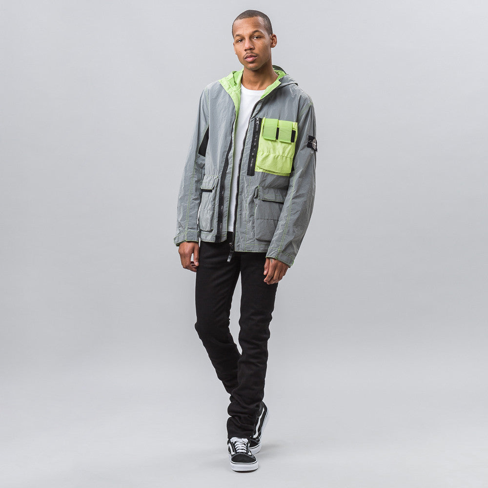 Stone Island Garment Dyed Plated Reflective Jacket - Notre