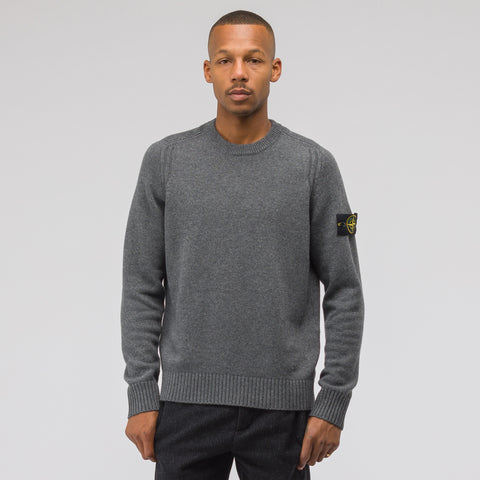 Stone Island 552A3 Knit Sweater in Charcoal - Notre