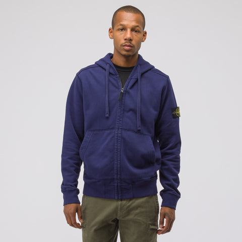 Stone Island 60220 Zip-Up Sweatshirt in Dark Blue - Notre