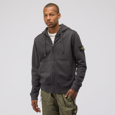 Stone Island 60220 Zip-Up Sweatshirt in Dark Grey - Notre