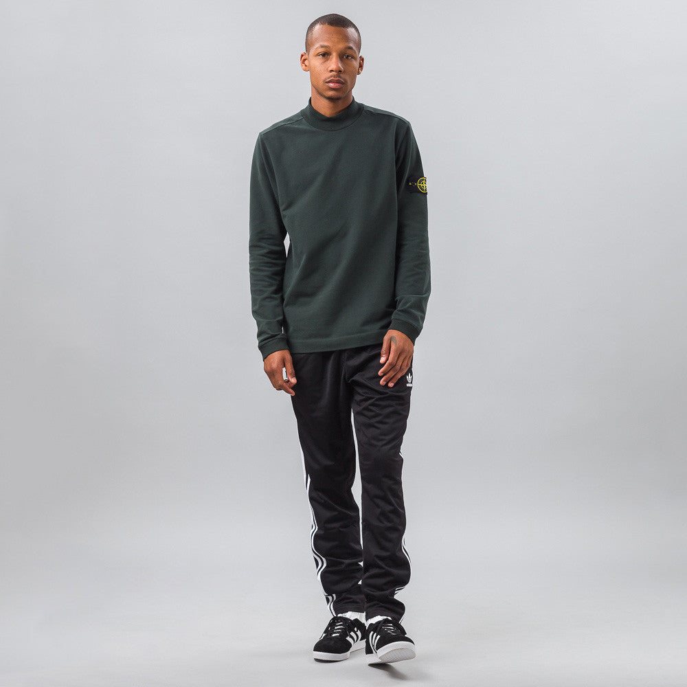 Stone Island - 60440 Mock Neck Sweatshirt in Hunter Green - Notre - 1