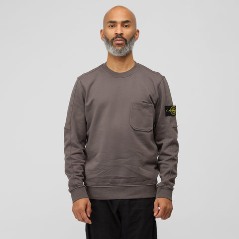 Stone Island 60651 Pocket Sweatshirt in Charcoal - Notre