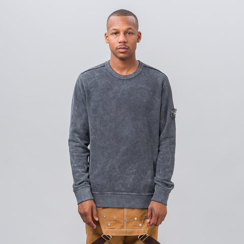 Stone Island Garment Dyed Frost Patch Sweatshirt in Black - Notre