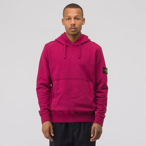 Stone Island 62820 Hooded Sweatshirt in Garnet - Notre