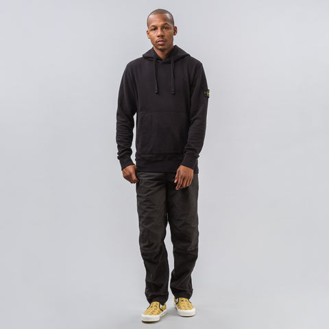 Stone Island Patch Fleece Hoodie in Black - Notre