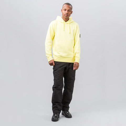 Stone Island Patch Fleece Hoodie in Yellow - Notre
