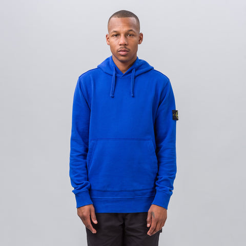 Stone Island Patch Fleece Hoodie in Royal Blue - Notre