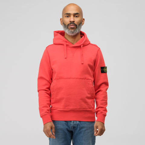 Stone Island 62851 Pullover Hoodie in Red Orange - Notre