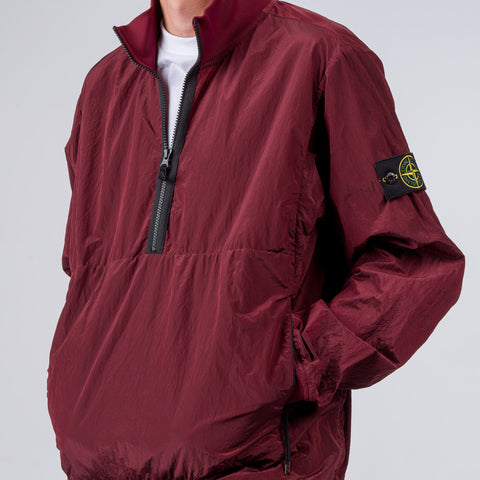 Stone Island 63412 Half Zip Jacket in Burgundy - Notre