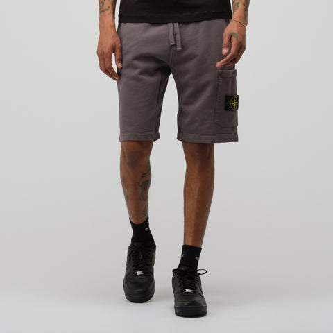 Stone Island 64651 Fleece Shorts in Blue Grey - Notre