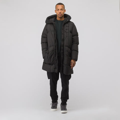 Stone Island 70123 Garment Dyed Crinkle Reps NY Down in Black - Notre