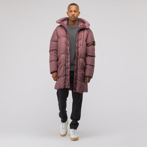 Stone Island 70123 Garment Dyed Crinkle Reps NY Down in Rose Quartz - Notre